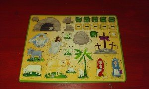 Easter Scene Wooden Pop-out Puzzle from Wee Believers