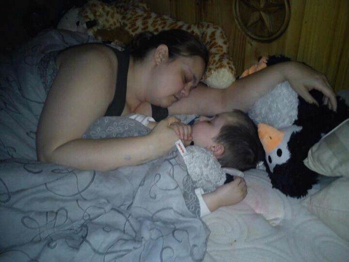 Mommy and The Boy Sleeping