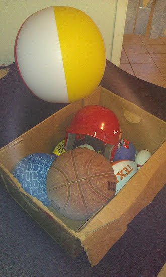 Sporting equipment for Game Day Challenge sponsored by OdwallaCFK - Champions for Kids