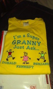 Super Grandma t-shirt - Personalized at The Babbling Baby
