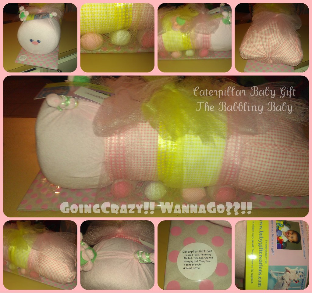 Caterpillar baby gift from The Babbling Baby