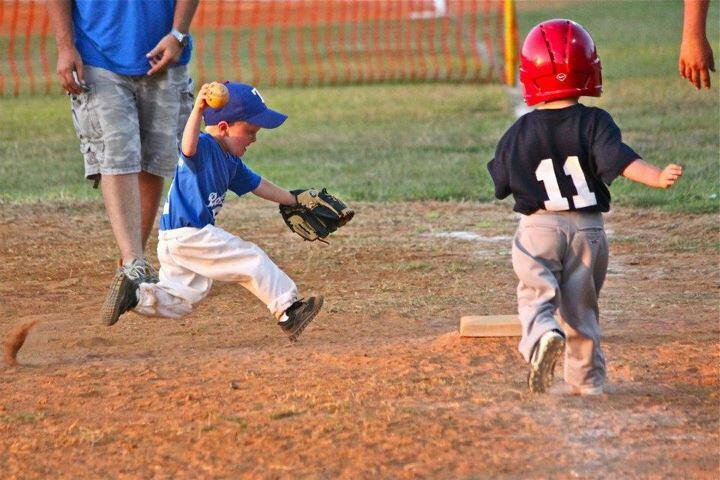 t-ball action shot