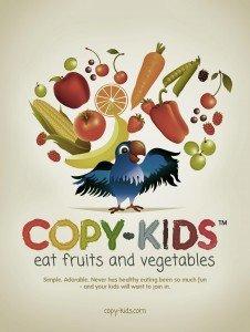 Copy Kids eat fruits and vegetables