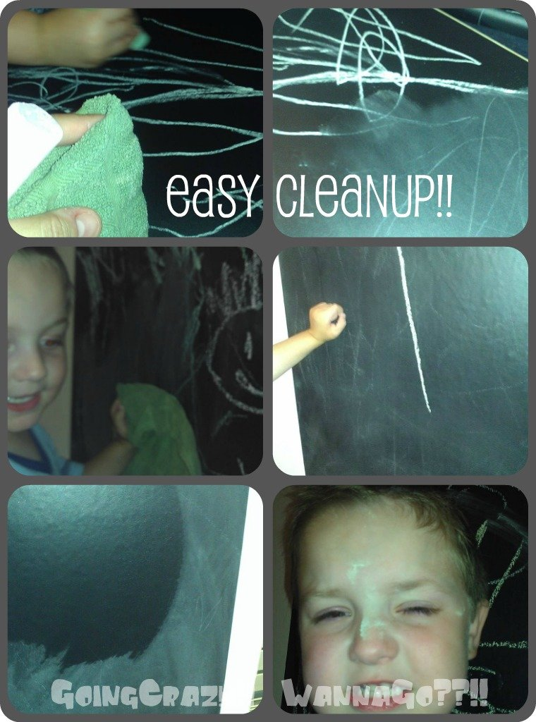 Instant Chalkboard Easy Cleanup