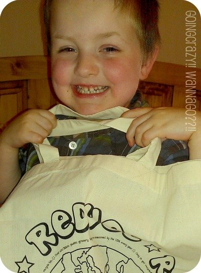 My boy loved his Recycle Tote from Colortime Crafts And Markers™