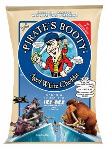 """Pirates Booty limited-edition """"Ice Age: Continental Drift"""" packages will be available at retailers nationwide through July 31"""