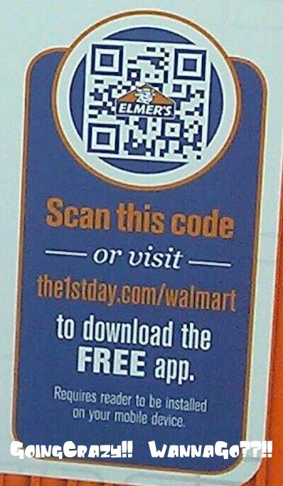 QR code scan for Elmer's 1st Day App