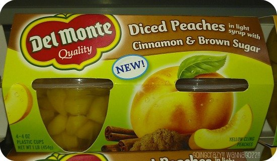 Diced Peaches in Cinnamon and Brown Sugar @DelMonteFoods #SmartSnack #CBias