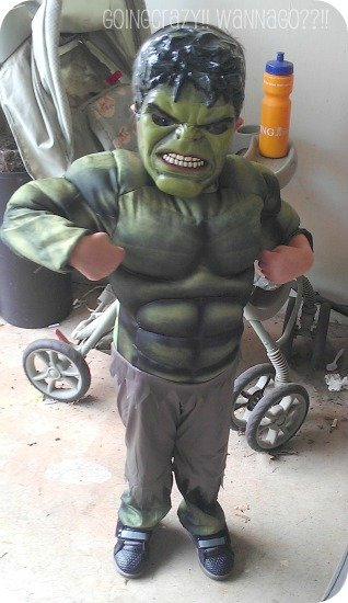 Greeted at home by HULK