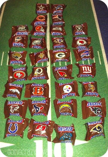 NFL teams on #SnickersMinis #CBias
