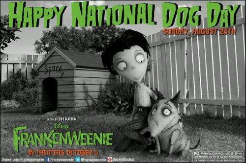 National Dog Day {Frankenweenie poster}