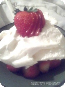 Strawberries and Cool Whip for dessert #DipDipHooray