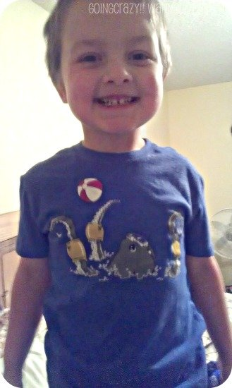 My boy loves funny shirts