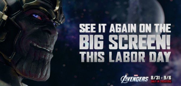 Avengers in theaters again for Labor Day 2012