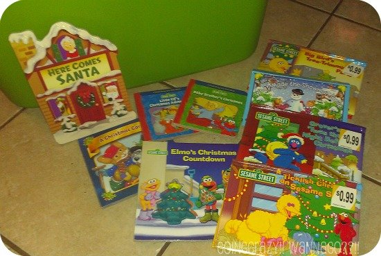 Christmas books in the BIG GREEN TUB #NickCFK