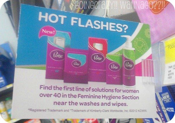 Hot Flashes need #PoiseFab5