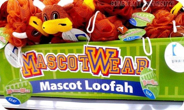 #MascotWear loofah display at Walmart