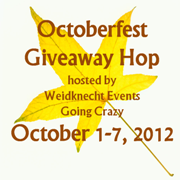 Octoberfest Giveaway Hop {hosted by Weidknecht Events Going Crazy} October 1-7, 2012