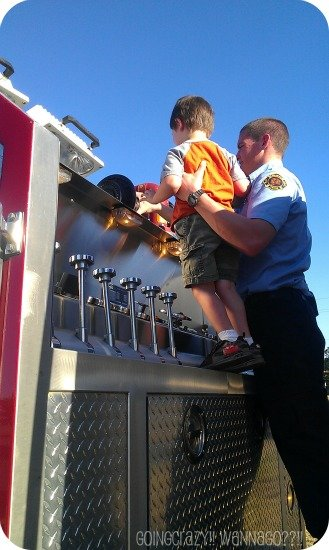 looking on top of fire truck