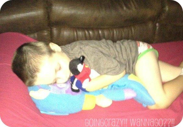 my silly boy sleeping