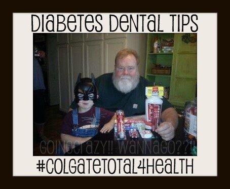 Diabetes Dental Tips - Colgate Total Health gift #ColgateTotal4Health