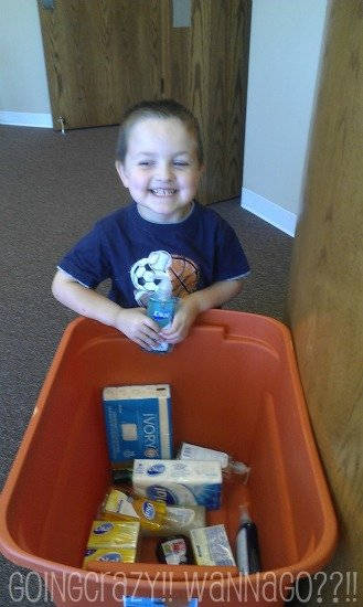 Donating hygiene products for kids {Dial Into Giving - Champions for Kids SIMPLE Service Project donation} #DialCFK #CBias