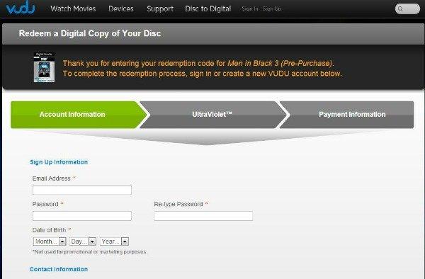 Register VUDU.com account #SeeMIB3