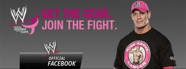 WWE John Cena supports Susan G Komen #WWEMoms