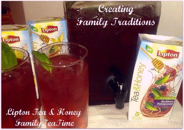 Creating Family Traditions Lipton Tea & Honey #FamilyTeaTime