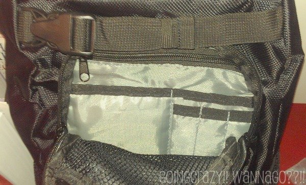 Daddy Diaper Pack top front pocket @DaddyScrubs