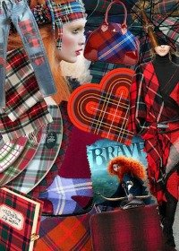 Disney's BRAVE Tartan Elbow Patch Cardigan