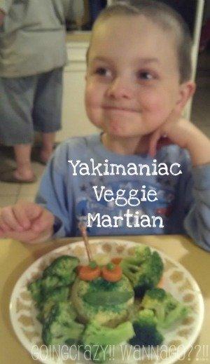 My boy's Yakimaniac Veggie Martian #veggiekids
