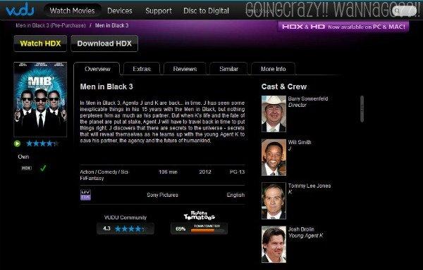 Watch HDX Men in Black 3 on VUDU #SeeMIB3