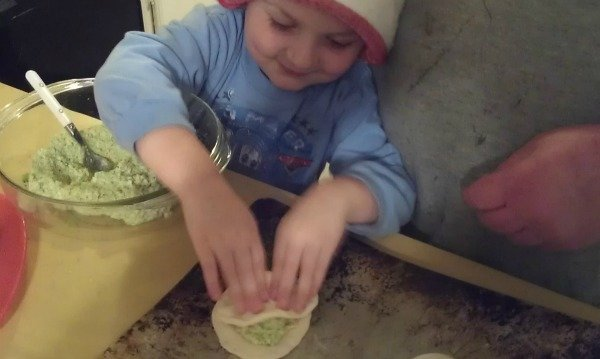 Boy making a Yakimaniac Veggie Martian #veggiekids