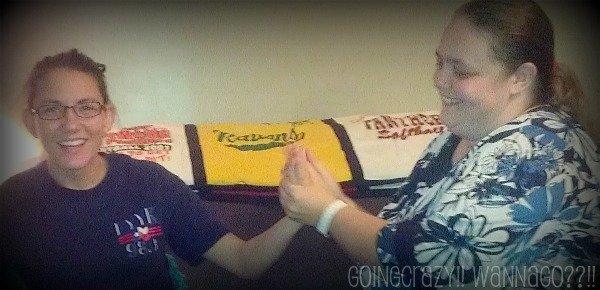 Giving a hand massage to Amanda #NIVEAmoments