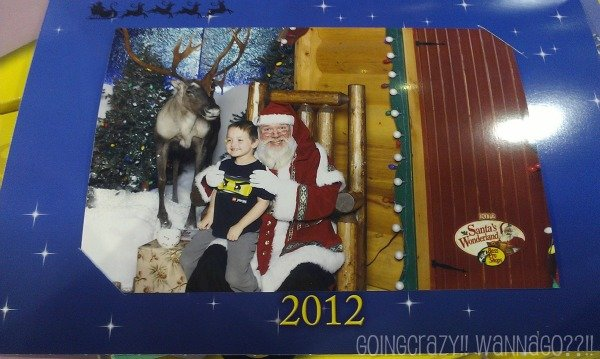 happy Santa and The Boy at Santa's Wonderland #BB4Me