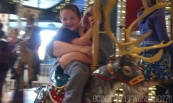 Fun on the Wildlife Carousel at Santa's Wonderland #BB4Me