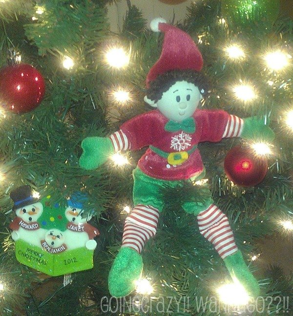 Elf Magic in Christmas tree