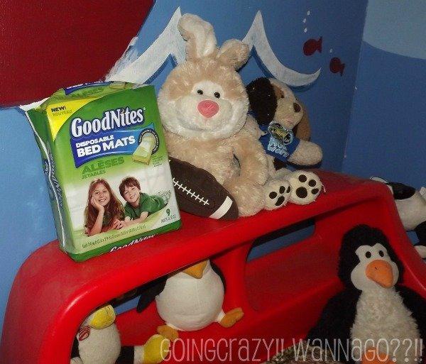 GoodNites Bed Mats for dry nights #HuggiesWalmart