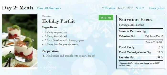 Holiday Parfait recipe