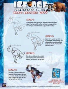 Ice Age: Continental Drift Draw Captain Gutt @IceAge