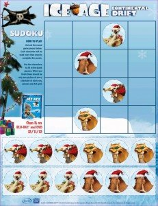 Ice Age: Continental Drift Sudoku @IceAge