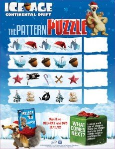 Ice Age: Continental Drift pattern puzzle @IceAge