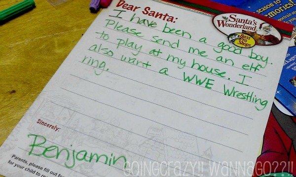 letter to Santa asking for Elf Magic