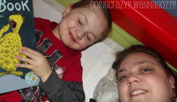 reading together at bedtime #HuggiesWalmart