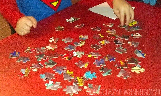 assemble the edge puzzle pieces