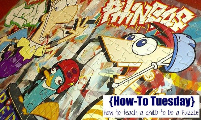 how to teach a child to do a puzzle