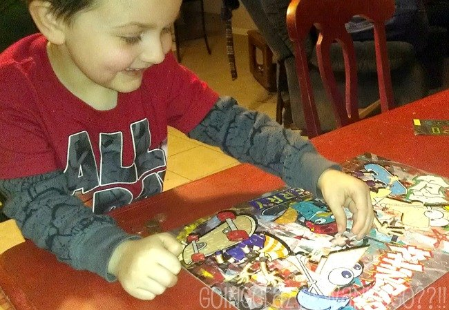 let your child finish the puzzle and celebrate