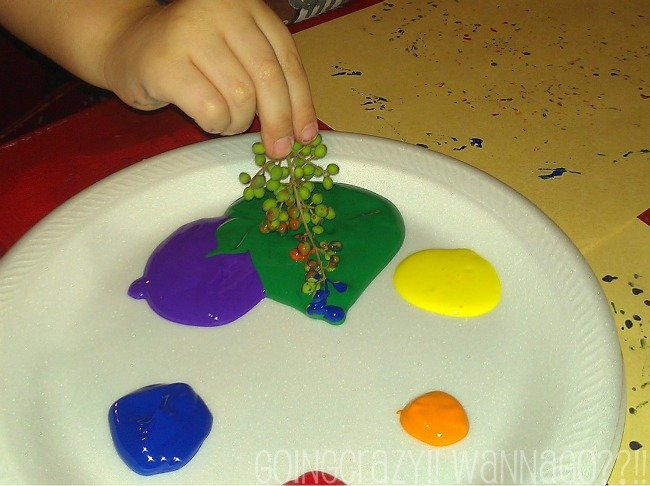 use finger paints for easy clean-up