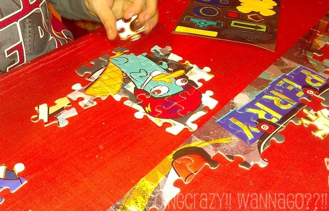 work on the puzzle in sections like Perry the platypus